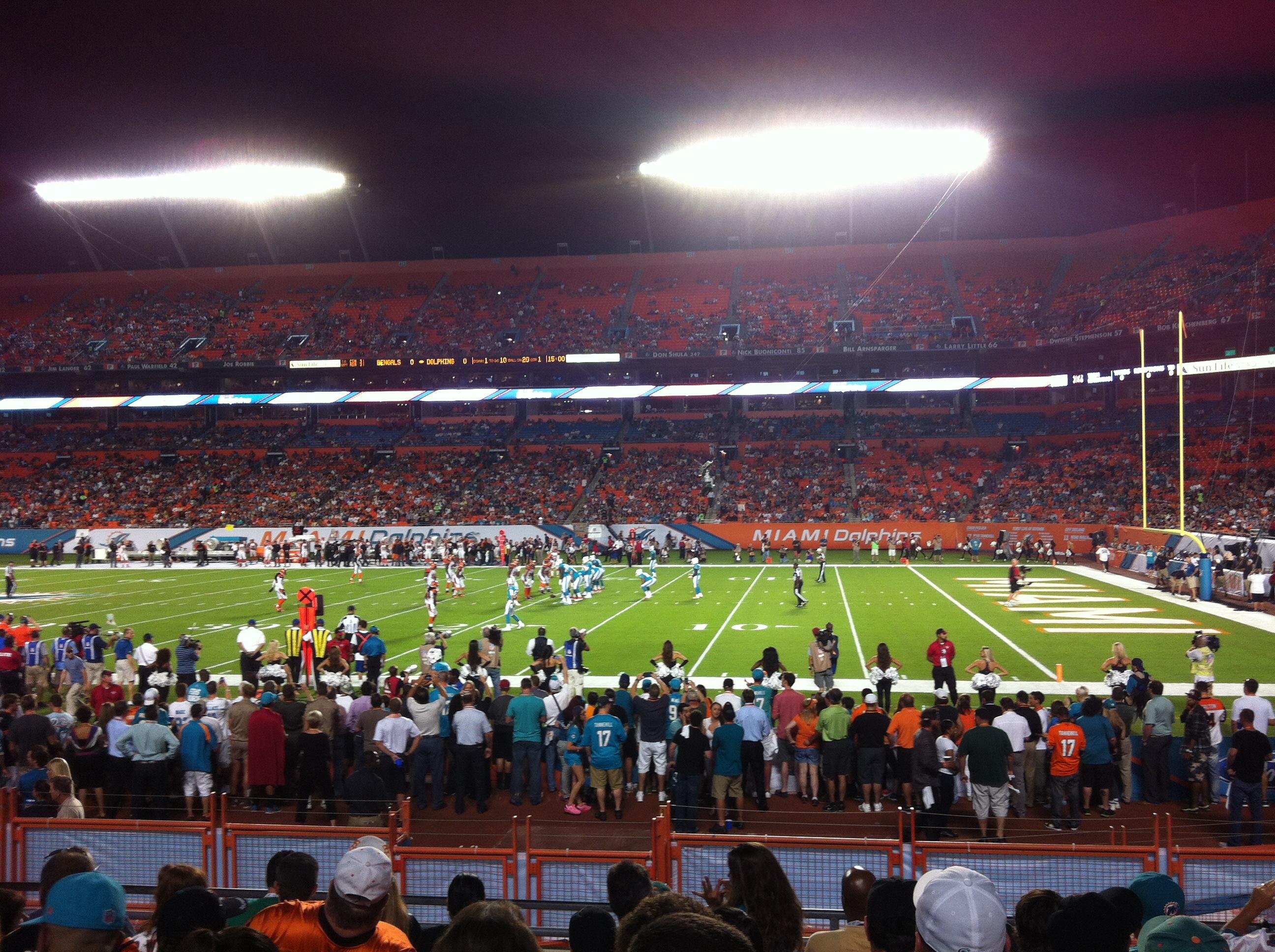 1c769aa512 Um jogo no SunLife Stadium de Miami