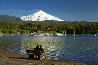 Lago e Vulcão Villarica