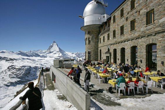 Um restaurante no topo do mundo