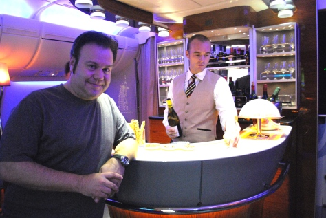 Bar a bordo do A380 da Emirates