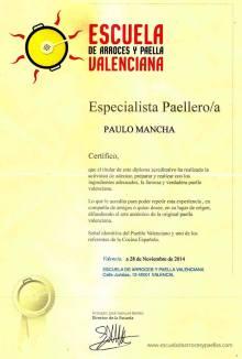 diploma-paella