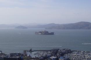 Alcatraz - Vista da Coit Tower - San Francisco
