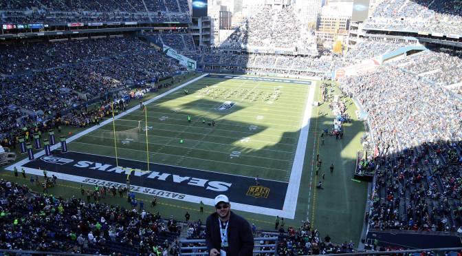 Um jogo da NFL no CenturyLink Field
