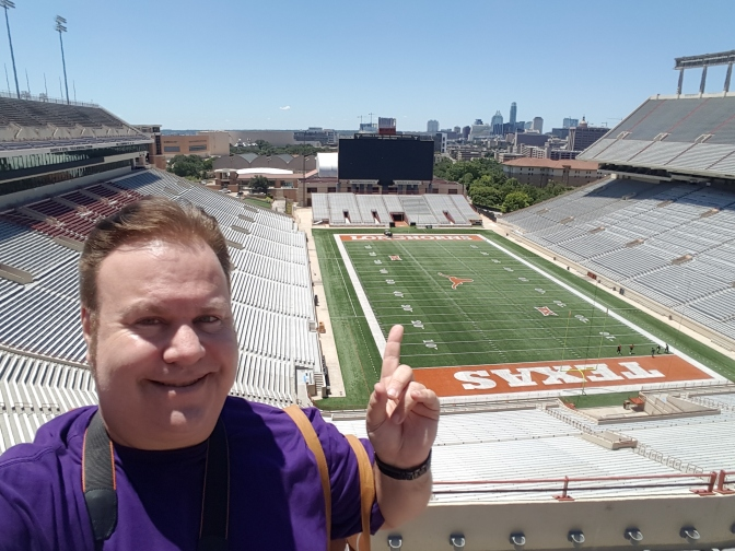 Visita a um estádio do college football
