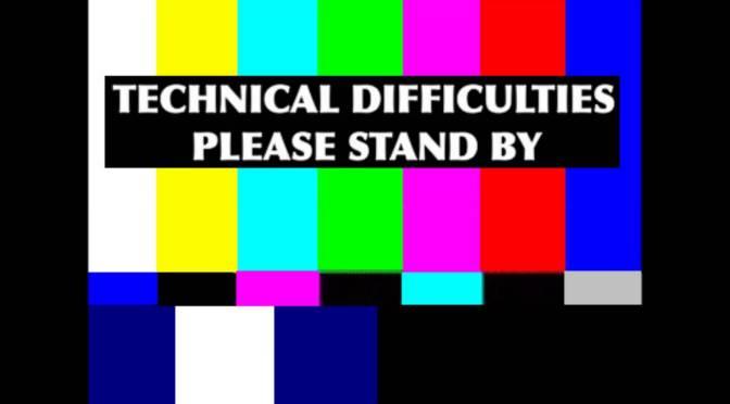 Dificuldades técnicas… Voltamos sábado
