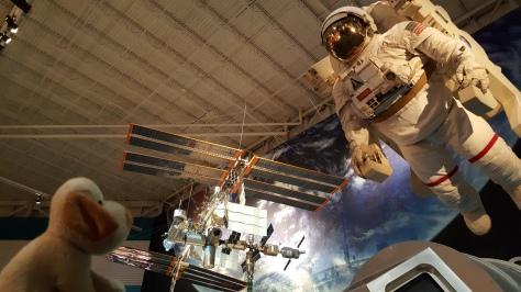 Parmesolino curtiu o Johnson Space Center - mesmo achando que a comida dos astronautas é pior que ração standard...