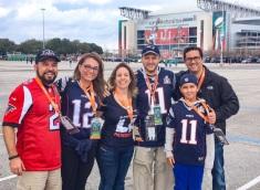 Grupo da Faberg no dia anterior ao Super Bowl LI
