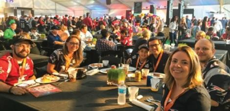 Tailgate party antes do Super Bowl LI