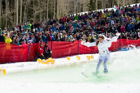 Pond Skimming Contest