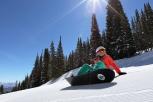 Snowboarder on Bluebird Day