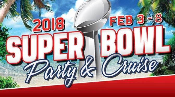 Que tal uma festa de Super Bowl em alto-mar?