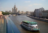 Rio Moscou visto desde o Parque Zaryadye