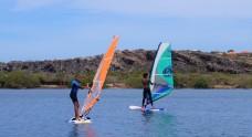 O windsurf é uma mania por lá!