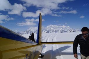 Pouso no Glaciar Hubbard