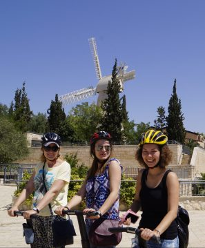Passeio de Segway com minhas amigas russas Alla, Anna e Anya