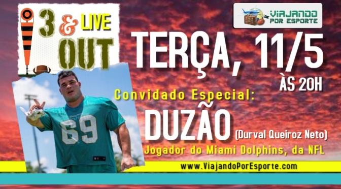 Live: Duzão Queiroz, atleta do Miami Dolphins